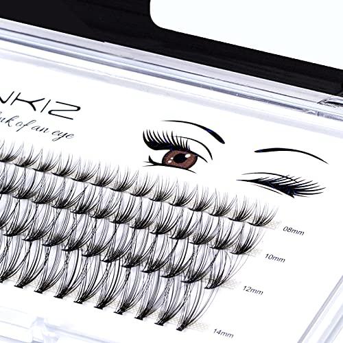 Home PRO DIY Individual Eyelashes Pack, LANKIZ Cluster Lashes for DIY Lash Extension at Home, C Curl 0.07 Mix 20D False Mink Eyelashes Individual Lashes