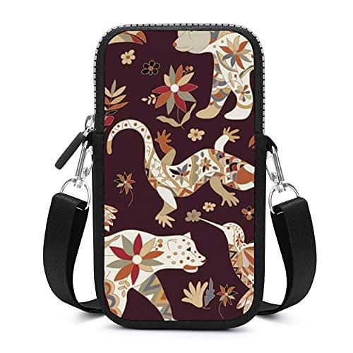 Bolso bandolera con correa extraíble para el hombro, diseño de oso de pájaro de México, bolsa a prueba de sudor para el dinero, brazalete de cartera, bolsas de yoga para mujeres