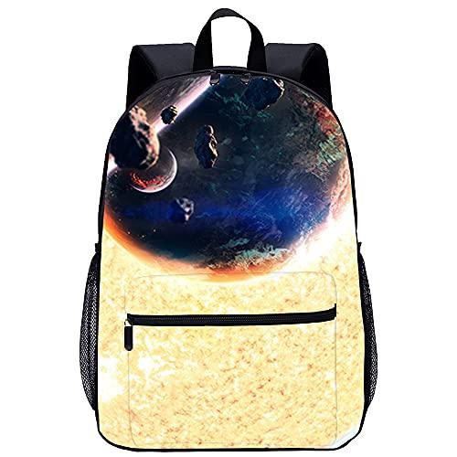 Prodizainas 3d Zainetto per bambini Zaino da scuola Burning plasma of glowing star, planets da viaggio unisex di moda Borsa da scuola Dimensioni: 45x30x15 cm/17 pollici Zaino per Ragazze Ragazzi