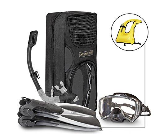 SealBuddy FIJI Panoramic Snorkel set + Premium Travel Gear Bag