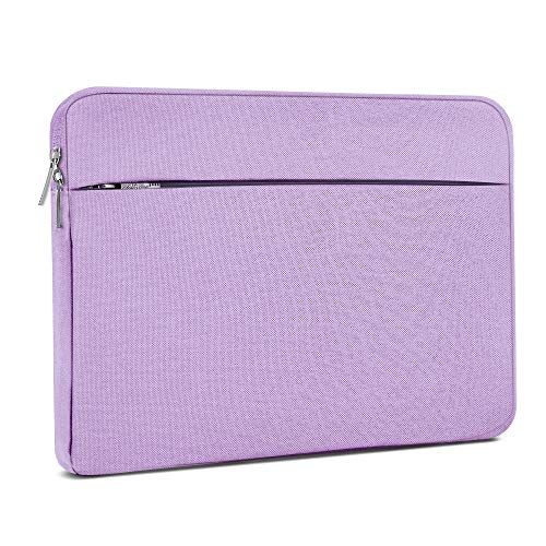 Laptop Sleeve 15.6 Inch, AtailorBird Notebook Protective Bag Carrying Case Water-Repellent with Accessory Pocket for Ultrabook Tablet Cover Case, Purple