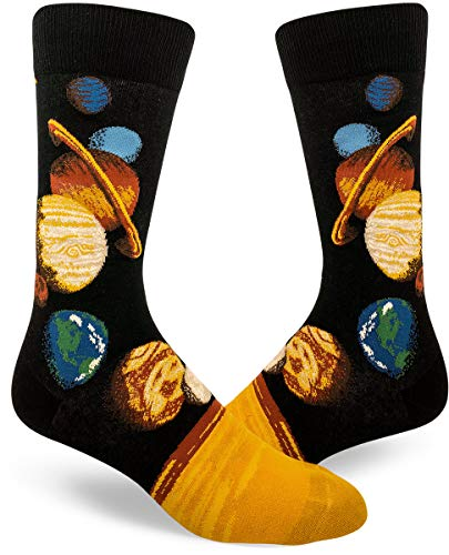 ModSocks Men's Solar System Crew Socks in Black