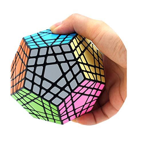 YYBF Cubo Mágico Megaminx Cubo Mágico con Forma Especial Rompecabezas 3D Profesional, El Regalo De Cumpleaños Y Navidad para Niños Y Niñas,Megaminx Cube 5×5