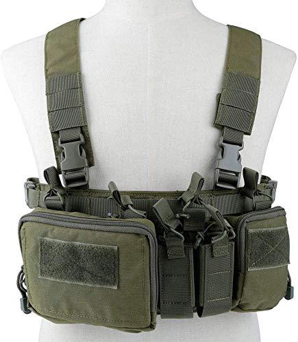 Will Outdoor Chaleco táctico de liberación rápida pistola de aire munición pecho pecho pecho equipo 5.56 9 mm revista combate táctico militar