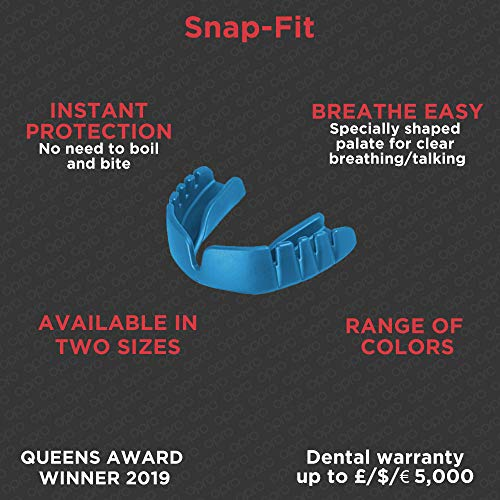 Opro Snap-Fit Mouthguard, Kids, Hot Pink