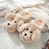 House Shoes Light Weight Terry Cloth Women Slippers Winter Warm Soft Men Home Ladies Indoor 44-45 Beige