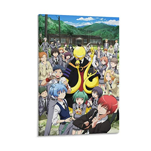 GHJH Póster de anime de Japón de 11 Assassination Classroom A Japón para decoración de pared, lienzo artístico de acuarela para dormitorio infantil 30 x 45 cm