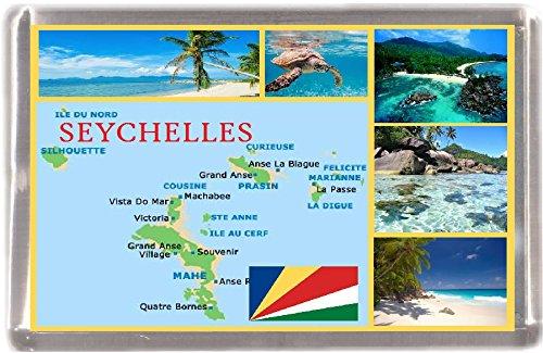 Kühlschrankmagnet Seychellen Landkarte Geschenk Tourist Souvenir