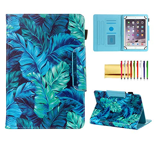 Universal Case for 7 Inch Tablet, Techcircle Light Stand Folio Magnetic Cover Case for RCA Voyager 7, Lenovo Tab 7', Samsung Galaxy Tab A 7.0, Fire 7 & Most 7.0-inch Tablet Computers, Palm Leaves
