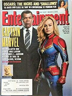 Entertainment Weekly Magazine (March 8, 2019) Captain Marvel Brie Larsen and Samuel L. Jackson Cover
