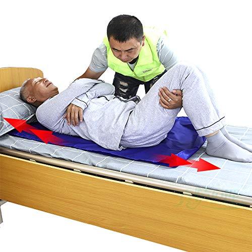 HHORD Überweisungshilfe Für Patienten Im Gesundheitswesen, Hilfsschieber Für Ältere Menschen, Multifunktionales Schiebetuch, Bettlägerige Übergabekissen Umdrehen (Blau),M