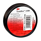 3M tsch1525TEMFLEX 1500vinilo eléctrico de cinta aislante, 15mm x 25m, 0,15mm), color negro