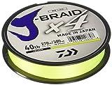 Daiwa Braided Fishing Line JB4U40-300FY J-Braid X4 4Strand Braided Line, 40# 300 yd