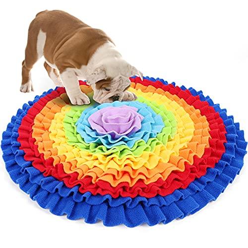 G.C Alfombra Olfativa Perros, Juguete Interactivo Inteligencia Perro, Lavable a Máquina Alimentación de Mascotas Colchon Para Cachorro de Perros Pequeños Medianos y Grandes ⭐