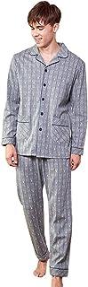 メンズ長袖コットンパジャマ秋と冬のパジャマセットカジュアルな大規模なルーズな家庭用服 パジャマ (Color : Gray, Size : 185cm)