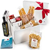 Gusta Gourmet Gift Basket - Classic Pasta Menu - Made in Italy - Healthy Holiday Basket for Birthdays, Family Parties, Sympathy, Housewarming, Clients and Business Gifts