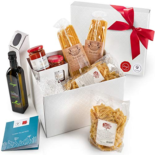 Gusta Gourmet Gift Basket - Classic Italian Menu - Made in Italy - Healthy Holiday Basket for Birthdays, Family Parties, Sympathy, Housewarming, Clients and Business Gifts