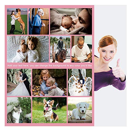 Haisimiery Fleecedecke mit Foto, personalisierbar, mit Bild, Geburtstagsgeschenk für Erwachsene, Baby, Haustier, 12 Fotos Fleece, Ihr Foto personalisiert, Lapghan 40''×60'' (100x150cm)