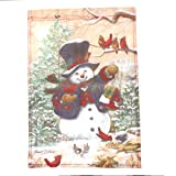 Barcarine Eindeutige Winter Friends Garden Flag Snowman Winter Saisonbanner -