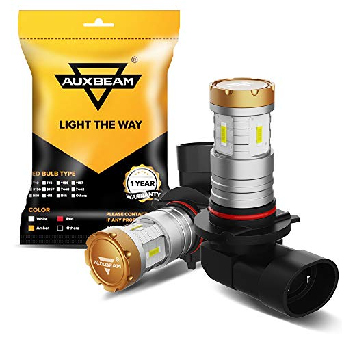 Auxbeam 9005 9006 LED Fog Light Bulbs 6500K 2400 Lumens 20W 9005/9006 LED Bulb 1860 SMD Chips 12V LED 9005/9006 Bulb High Power Xenon White (Set of 2)