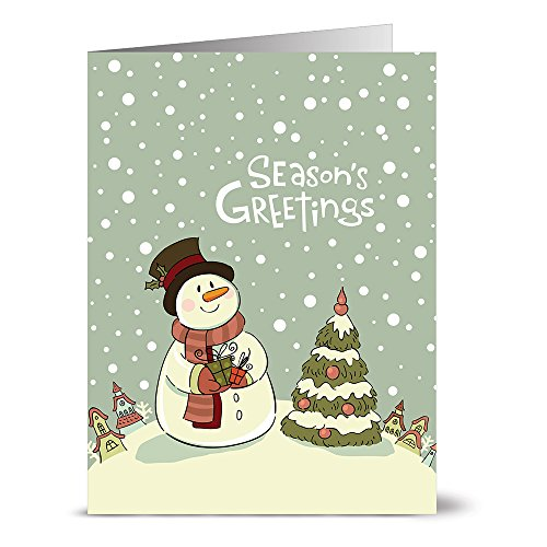 Note Card Cafe Christmas Card Assortment with Kraft Envelopes | 36 Pack | Be Full of Joy | Blank Inside, Glossy Finish | Set for Holidays, Winter, Gifts, Presents, Secret Santa, Work Parties