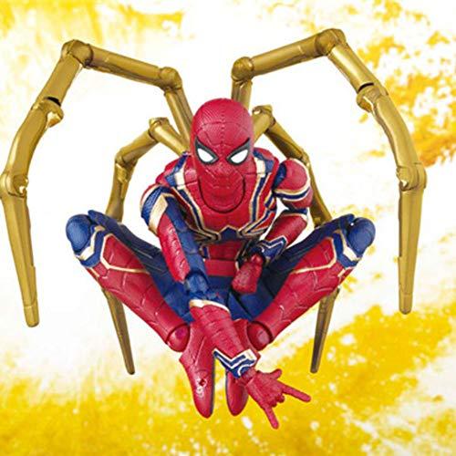 Modelo de juguete de Spider-Man Modelo Escultura Articulación Móvil De La Muñeca...
