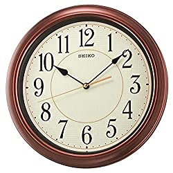 Seiko 13 Numbered Wood Finish Wall Clock