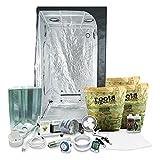 HTGSupply 3 x 3 (39'x39'x79') Grow Tent Kit Complete with 400-Watt HPS + Organic Soil & Nutrients