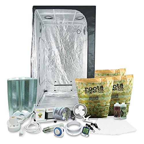 "HTGSupply 3 x 3 (39""x39""x79"") Grow Tent Kit Complete with 400-Watt HPS + Organic Soil &..."