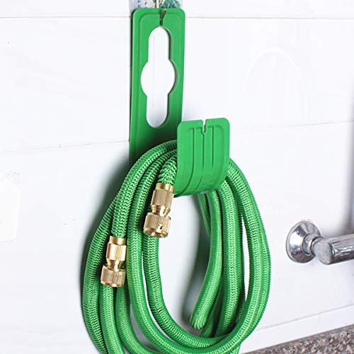 SuccessfulHome Wall Mounted Garden Hose Pipe Reel Holder Hanger Storage Hook Watering Rack Home and Outdoor Organization, Great for Garden, Lawn, Yard (m)