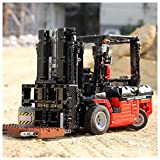Technic Forklift 1:10 Building Blocks Set, 2.4G RC/App Forklift Truck Construction Set with 1719 Bricks and 5 Motor