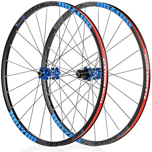 TYXTYX Mountain Front Wheel Rear Wheel, 26 Inches / 27.5 Inch Bicycle Wheel Set Alloy Type Disc Brake MTB Rim Quick Release 24 Hole Shimano Or SRAM 8 9 10 11 Transition,Black,26inch