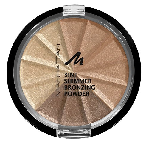 Manhattan 3in1 Bronzing Powder, 001, Gold Shimmer, 3er Pack(3 x 9.9 ml)