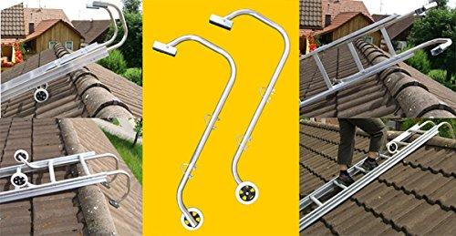 Firsthaltebügel/Firstüberwurfbügel / Firstbügel/Firsthaken für Dachleiter (1 Paar)