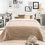 Sancarlos Ray-Tagesdecke, wendbar, Farbe: Braun & Creme, für 150 cm breite Betten