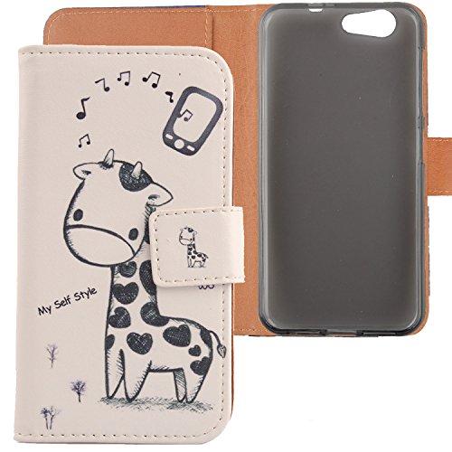 Lankashi PU Flip Leder Tasche Hülle Hülle Cover Schutz Handy Etui Skin Für ZTE Blade A512 5.2