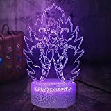 Dragon Ball Z 3D LED Night Light Saiyan Acrylic Crack Lámpara de mesa blanca