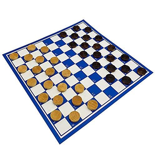 N\C Juego de ajedrez portátil, 100 Celdas, Tablero de ajedrez de PVC, Juego de Piezas de ajedrez de Madera, Tablero de ajedrez Plegable de 4141cm. QZQQ