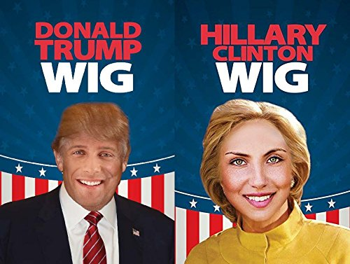 ALAYNA (TM) Donald Trump and Hillary Clinton Wig - Have A Debate in The Comfort of Your Own Home!