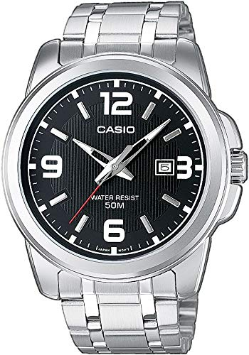 Casio Herren Analog Quarz mit Edelstahl Armbanduhr MTP1314PD1A