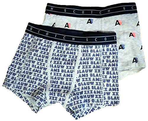 Scotch & Soda Shrunk Jungen N/A Boxershorts, per Pack Mehrfarbig (Combo A 21), 128 (Herstellergröße: 8)