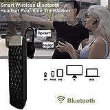 JINLO Bluetooth Auriculares Traductores Voz En Tiempo Real Música Traducción Llamar 3 En 1 Alta Fide...