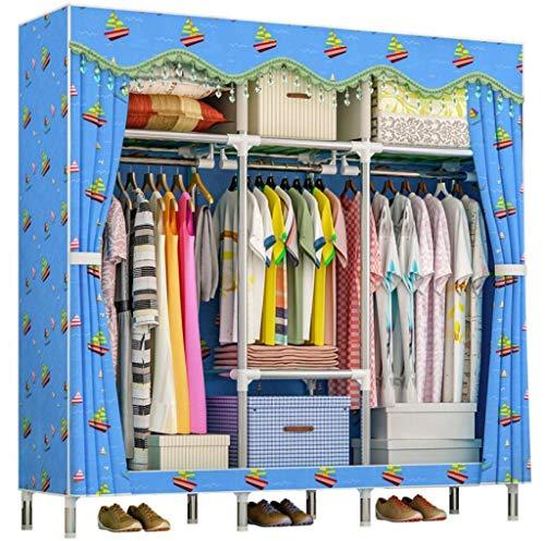 AYUANCHUN Eenvoudige garderobe - Doek doek garderobe, Montage van de garderobe, draagbare kast, garderobe kasten voor slaapkamer,50.4nx 66.1inx 18.1in,Steel pijp versterking