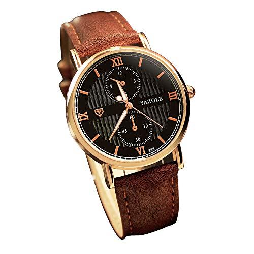 YOUZHA Armbanduhren Herrenuhren Nachtleuchtende Uhren Quarz Beiläufige Armbanduhr Heren-Black-China