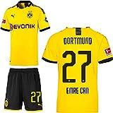 PUMA Borussia Dortmund BVB Heimset 2019 2020 Home Kit Trikot Shorts Herren Emre Can 27 Gr L