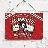 SIGNCHAT Plaque Murale en métal Vintage Motif bière écossaise 20 x 30 cm