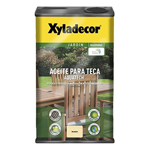 BRUGUER XYLADECOR Aceite Teca AQUATECH INCOLORO 5 L, Negro
