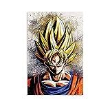 HAPPOW Póster de anime de Dragon Ball Super Saiyan Son Goku para pared de 30 x 45 cm