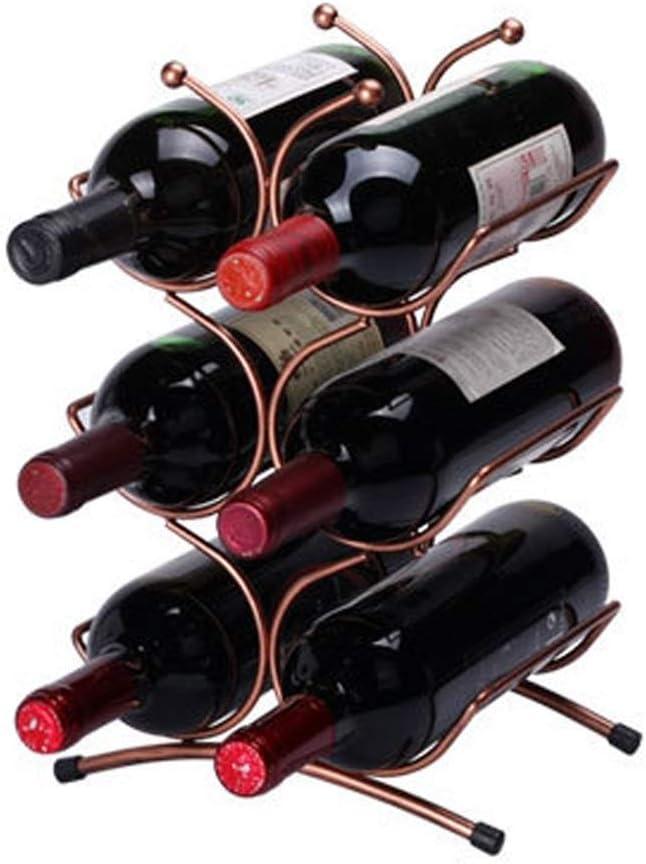 CHUNSHENN 6 Bottle Seasonal Wrap Introduction Wine Racks Max 73% OFF W Free Holder Standing