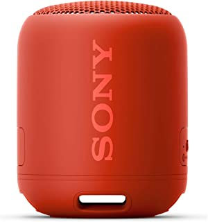 ソニー ワイヤレスポータブルスピーカー SRS-XB12  :  防水 / 防塵 / Bluetooth対応 / 重低音モデル / マイク付き/  軽量 コンパクト 2019年モデル / マイク付き/  レッド SRS-XB12 RC